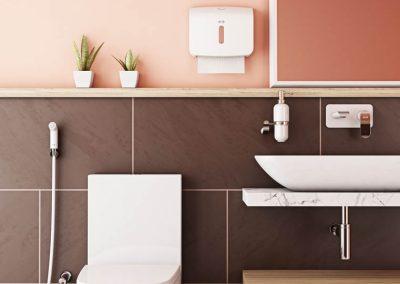 Bathroom pink hires layar